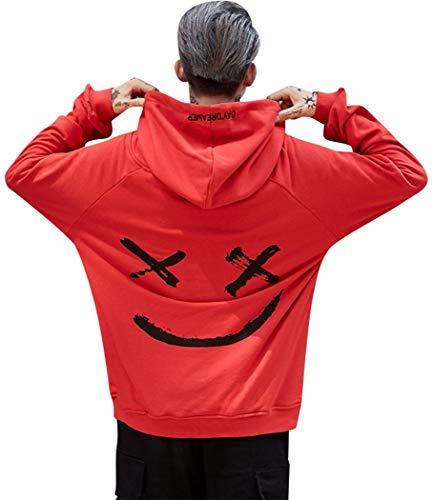 heekpek Hombre Mujer Unisex Sudaderas con Capucha Impreso Suéter Cuello Redondo de Mangas Largas Sweat Hood Capucha para Hombre Suéter para Hombre Sudaderas con Capucha