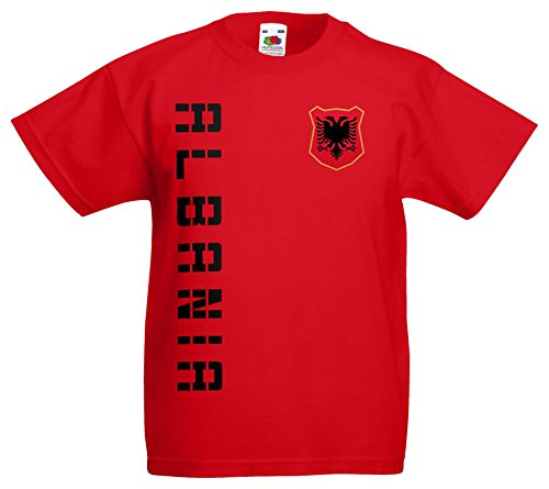 Albanien Shqiperia Kinder-Shirt Name Nummer Trikot EM-2021 Rot 140