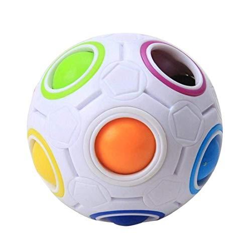 asdfwe 2017 Pop Rainbow Magic Ball Plástico Torcedura del Cubo para Los Niños De Juguetes Educativos para Adultos Adolescentes Aliviar Estrés,
