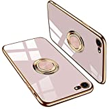 iPhone se ケース iPhone 7 ケースiPhone 8 ケース TPU 耐衝撃 リング付き 車載ホルダー対応 軽量 薄型 擦り傷防止 取り出し易い 携帯カバー スタンド機能 落下防止 アイフォンse /7/ 8 ケース4.7インチ(iPhonese ケース iPhone7 ケースiPhone8 ケース ピンク)