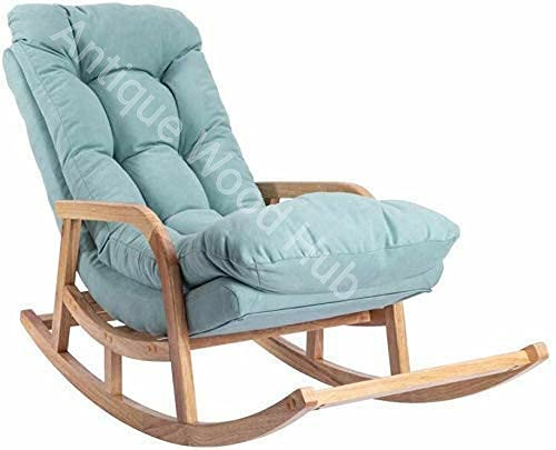 Antique Wood Hub Teak Wood Rocking Chair/Colonial and Traditional Rocking Armchair/Modern Appearance Chairs/Balcony/Super Comfirtable Cushion