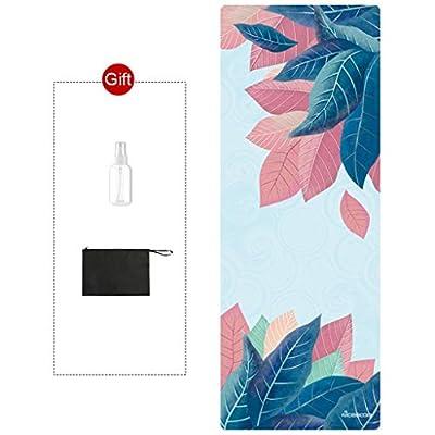 Mat Quality Machine Washable Yoga Pad Towel Foldable Non Slip Kids Play Fitness Yoga Blanket Free Yoga Bag -Dance rug