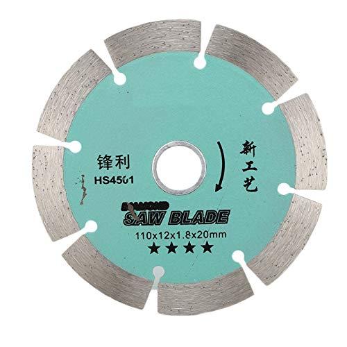 Hoja de sierra circular de diamante de 110 mm Disco de corte de baldosas de rueda de corte verde 12T para cortar mármol de cerámica