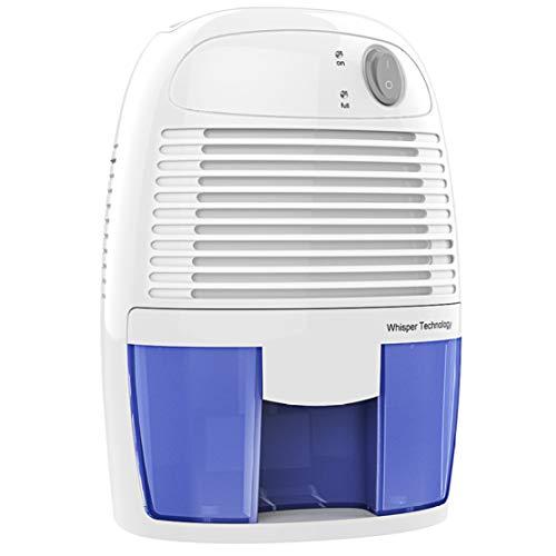 JLDN Eléctrico Mini Deshumidificador Silencioso, Filtro de Aire Secador Purificador con Ionizador Auto-Apagado para Armarios Baño Cocina,White