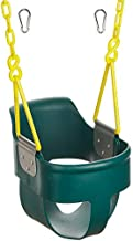 Squirrel Products High Back Full Bucket Toddler Swing 2.0 with Pinch Protection Technology & Patented Ergonomic Design with Carabiners for Easy Install