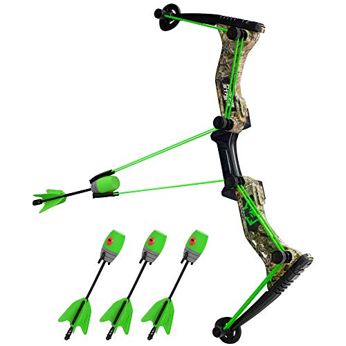 Zing Hyperstrike Bow and foam Arrows, Green Camo, with Incredible range of Up to 250 ft. Great for long range outdoor play with friends and family.