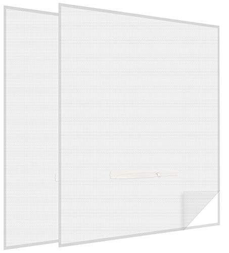 infactory Fliegennetz Dachfenster: 2er-Set Fliegengitter mit Fenster-Zugang, 150 x 180 cm, weiß (Fliegengitter für Dachfenster)