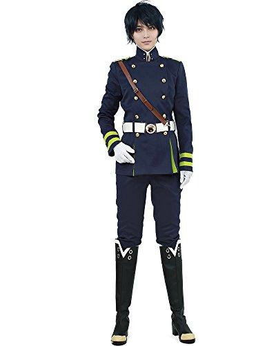 miccostumes Men's Yuichiro Hyakuya Cosplay Costume (Medium) Navy Blue