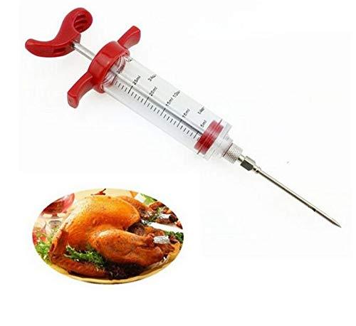 Vlees marinade injector, vleesklopper Flavor injectorspritze naald sauce Turkije kip BBQ gereedschappen
