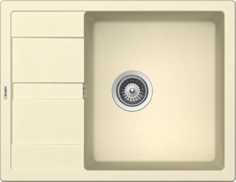 SCHOCK Einbauspüle MANHATTAN D-100-A, Crema Cristalite+, Unterschrank 50 cm, Becken reversibel, Montage aufliegend, MAND100AGCM