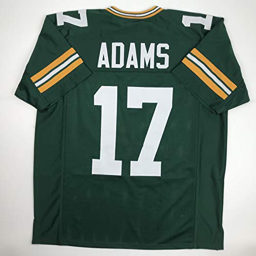 Unsigned Davante Adams Green Bay Green Custom Stitched Football Jersey Size Men's XL New No Brands/Logos
