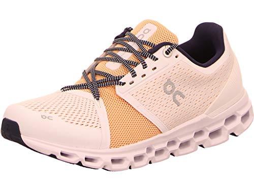 ON Running Women's Cloudstratus Sneaker Shoe (White/Almond, Numeric_8)