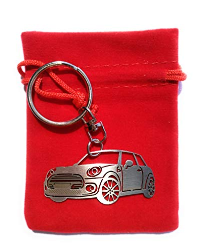3dcrafter Mini Cooper key chain Stainless Steel Key ring for Enthusiasts or for gift