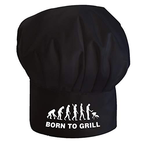 Professionale Cappello da cuoco regolabile Per adulti accessori da cucina Cappello capo Nero Nato per il Barbecue [108]