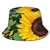 Bucket Hat Packable Reversible Girasol Vivid Print Sun Hat Fisherman Hat Cap Camping al Aire Libre