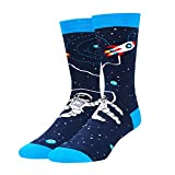 Zmart Men Novelty Funny Space Crew Socks Astronaut Rocket Gifts for Science...