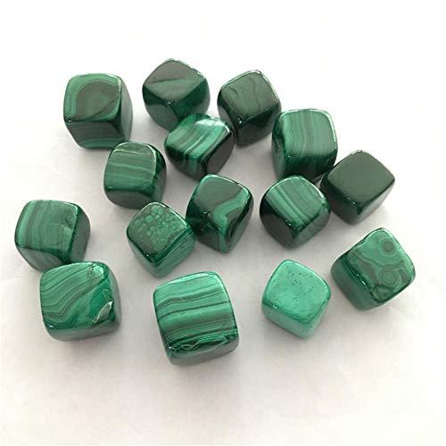 MCWJ 100g 1000g Venta al por Mayor Natural Forma Cuadrada Verde malaquita minerales Colgante joyería jardín decoración del hogar Feng Shui-1000g