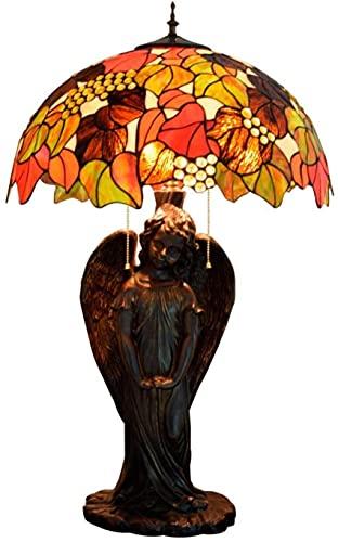 SpiceRack Accesorios para lámpara de Mesa, lámparas para Dormitorio, Hermosas Hojas, lámpara de Escritorio de Vidrio, portalámparas de ángel para hoteles, Bares, restaurantes, Estudio, Sala