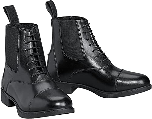 Devon Aire Kids Lakeridge Lace-Up Synthetic Leather Paddock Boots Black