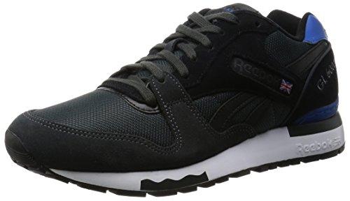 Reebok GL 6000 Athletic, Zapatillas de Running para Hombre, Negro/Azul/Blanco (Gravel/Black/Blue Sport/White), 42 1/2 EU
