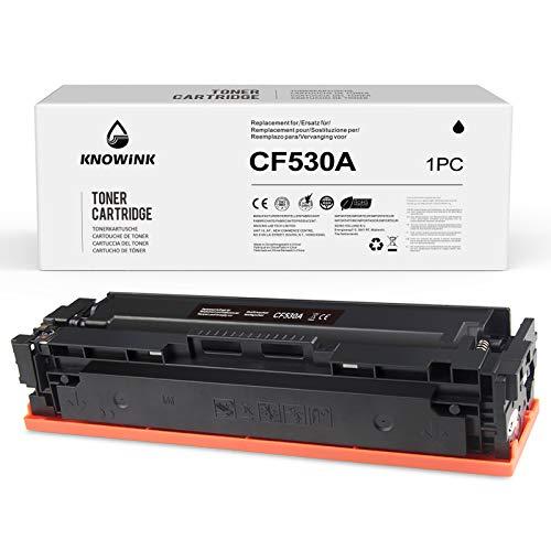 KNOWINK CF530A Cartucce d'inchiostro nero compatibili per HP 205A CF530A per HP Color Laserjet Pro MFP M181fw M180n M180nw M154nw M154a Toner (1 Nero)