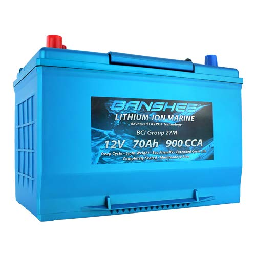 Deep Cycle Lithium-Ion True Marine Dual Terminal Battery With Emergency Start 900CCA Group Size 27