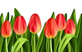 Punto de cruz Hermosas flores de tulipán planta de alta calidad Hermoso kit de...