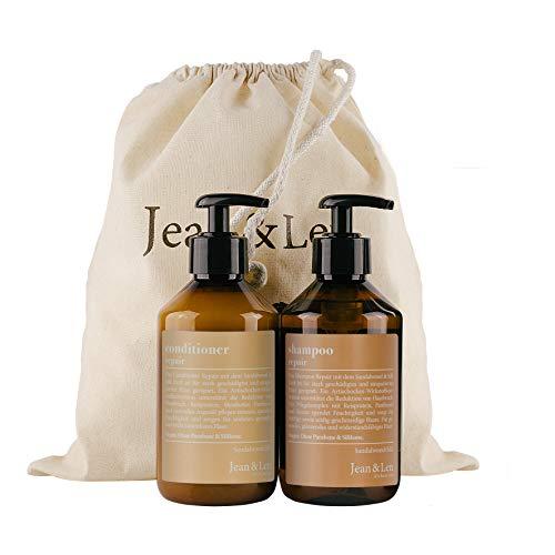 Jean & Len Jean & Len Haarpflege Set Repair Sandalwood & Silk, bestehend aus Shampoo, Conditioner, stark geschädigtes und strapaziertes Haar