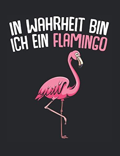 In Wahrheit Bin Ich Ein Flamingo Tier Rosa: A4+ Softcover 120 beschreibbare karierte Seiten | 22 x 28 cm (8,5x11 Zoll)