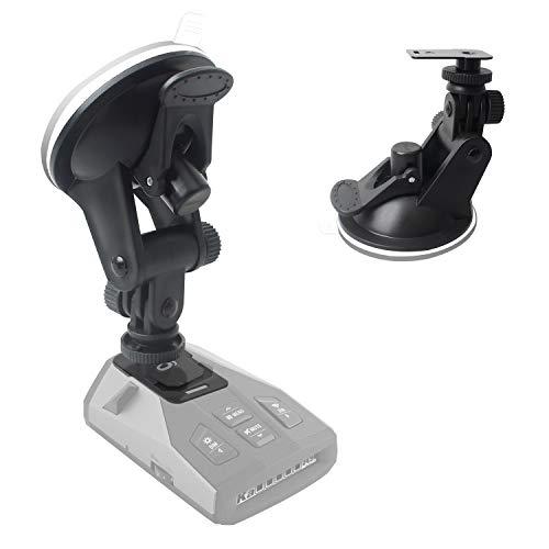 YeeBeny Suction Radar Detector Mount, Windshield & Dashboard Radar Holder Compatible with Cobra Radar Detectors Cobra RAD 450, 8-Band, ESD-6100, ESD-7000, XRS-9300, PRO-9780 and All Recent Models
