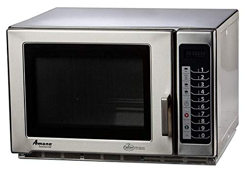 Amana RFS12TS Medium Duty Stainless Steel Commercial Microwave with Push Button Controls - 120V, 1200W