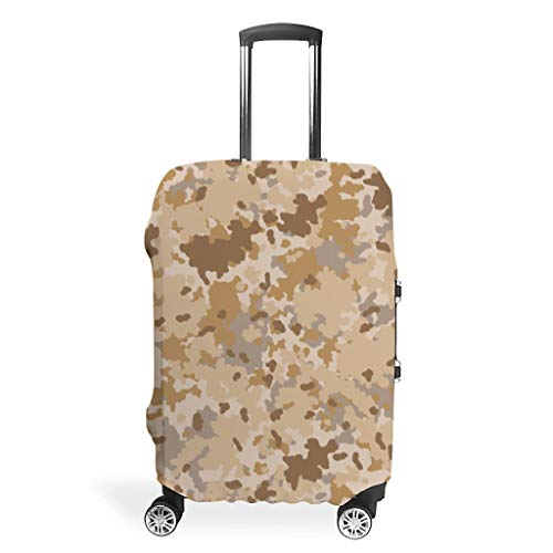 Camouflage Print Vintage Style Multiple Patterns Baggage Protective Cover Elasticity 18 to 32 Inch for Baggage White XL (76x101cm)