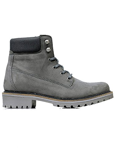 Will's Vegan Shoes Mens Dock Boots-UK 11 / EU 46 / US 12 Grey Vegan Suede