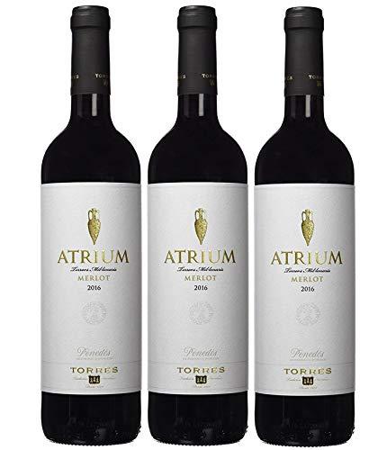 Atrium Merlot, Vino Tinto - 3 botellas de 75 cl, 2250 ml