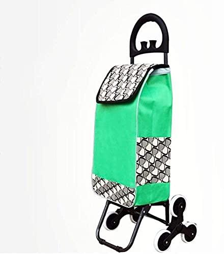 NYCUABT Shoppingwagen Einkaufswagen Kleine Warenkorb Tragbare Trolley Ältere Klappstuhl Haushaltswagen Supermarkt, Reisen (Farbe: Grau, Größe: mit Sitz) (Color : Gray, Size : No seat)