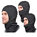 Grand PitStop Face Mask for Bike, Ski, Cycling, Running, Hiking - Protects from Wind, Sun, Dust - 4 Way Stretch Face Protection Mask (Black)