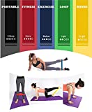 UNYBUY® Set of 5 Pieces Latex Resistance Loop Exercise Bands for Yoga, Stretching