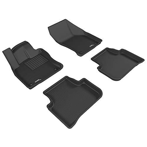 3D MAXpider para Volkswagen Golf 7 Sportsvan 2014-2020, Aptas para Todas Las Condiciones Climáticas, Alfombrillas de Goma de Coche (Juego de Alfombras, Color Negro).