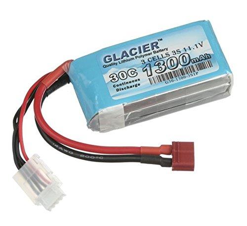 Glacier 30C 1300mAh 3S 11.1V LiPo Battery with T Plug