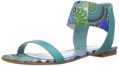 Desigual Shoes TREBOL, Sandales pour Femme - Turquoise - Türkis (5024), Taille 40 EU