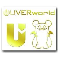 絵柄だけ残る ステッカー S 「UVERworld#2」 金 060G