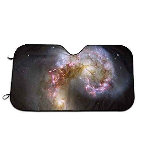 "Label Love Antennae Galaxies XL Windshield Sun Shade Sunshades Keep Vehicle Cool Protect Your Car from Sun Heat & Glare Best Uv Ray Visor Protector Size: 27.5""X 51"""