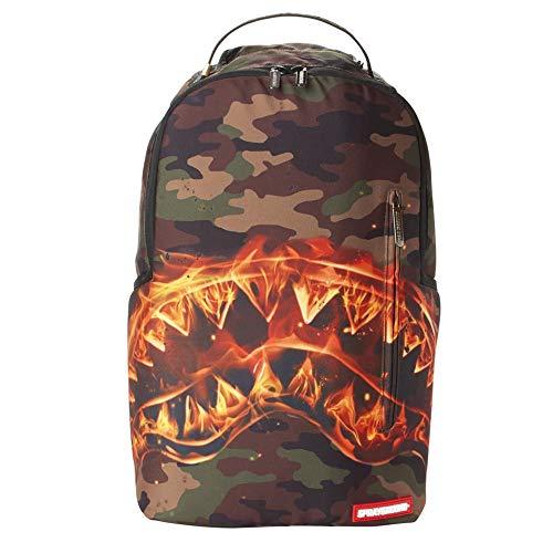 Sprayground | B2221NSZ Fire Shark Backpack - Camo Black