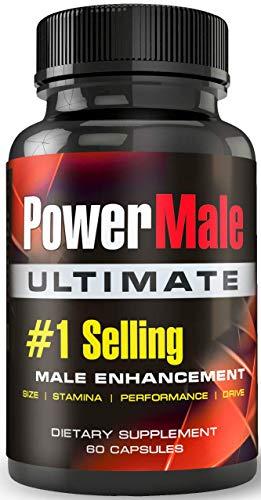 PowerMale Ultimate - #1 Male Enhancement Pills - Enlargement Pills, Add Size, Strength, Stamina, Performance