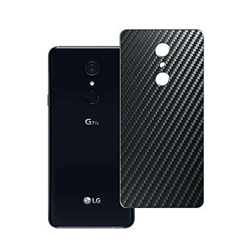 Vaxson 2 Unidades Protector de pantalla Posterior, compatible con LG G7 Fit Fit+, Película Protectora Skin Piel Negro [No Carcasa Case ]