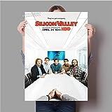zhuifengshaonian Silicon Valley Movie Poster TV Home Art Living Room Decoracin del Dormitorio Decoracin del Hogar Arte De La Pared Decoracin del Arte Pintura De La Lona 50X70Cm Wxduuz-1465