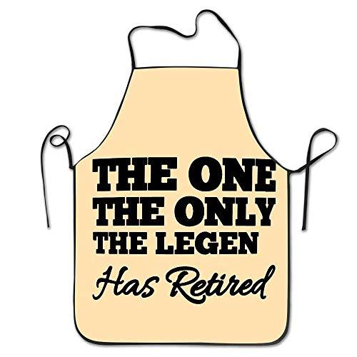 xdbgdfhdhdjdj Divertido regalo de jubilación One Only Legend Has divertido regalo de mordaza jubilada cocina delantal