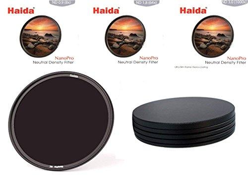 HAIDA Ultra Slim NanoPro MC ND Graufilterset 8X, 64x, 1000x - 67 mm, inkl. Stack Cap Filtercontainer
