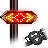 Keaplayee Bike Tail Light with Turn Signal, Rear Bike Light LED Rechargeable USB Bicycle Tail Light, Wireless Remote Control Back Bike Light for Night Riding Safety Warning Cycling Lights