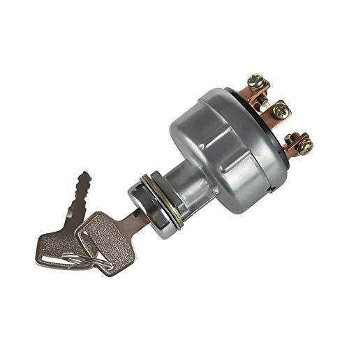 Luoji Ignition Switch de arranque interruptor de encendido 4 posiciones universal llave de encendido para cortacésped tractor excavador